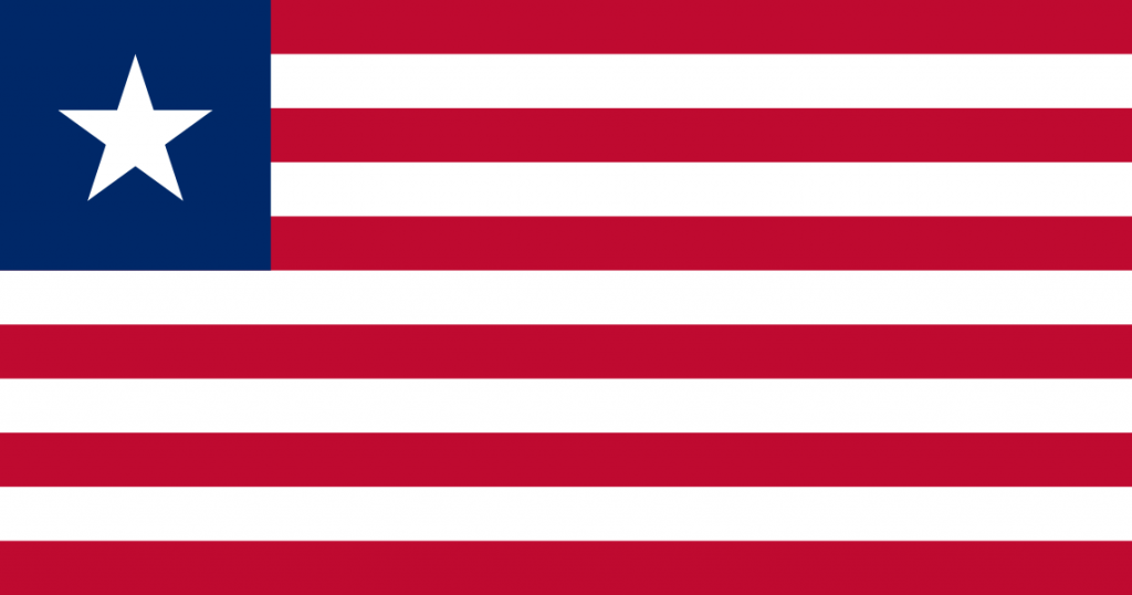 The flag of Liberia