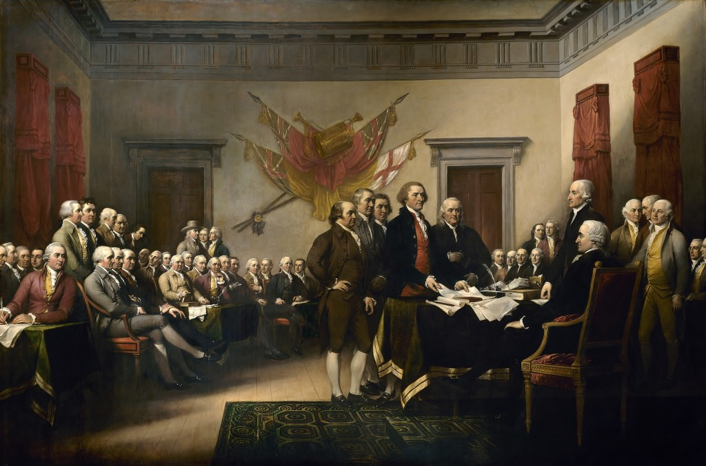 The Declaration of Independence is presented to the Continental Congress, 1776