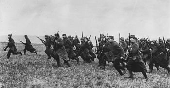 French troops charge at the Marne, 1914